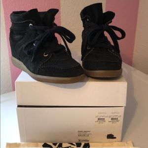 Authentic Isabel Marant Bobby Wedge Sneakers 38 8